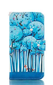 motif de forêt cuir PU cas de tout le corps avec fente pour carte et d'éligibilité pour Samsung Galaxy Note 4 / note 5