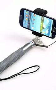 bastão de selfie rk-90e conectar com móbil por cabo para ios / telefone android