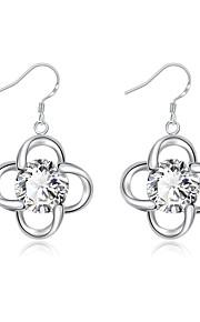 Dame Dråbeøreringe Smykker Imiteret Diamant Enkelt design Sølvbelagt Smykker Smykker TilBryllup Fest Speciel Lejlighed Halloween