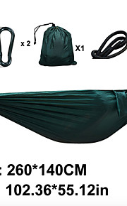 SWIFT Outdoor® Double Lightweight Parachute Hammock Camping Survival 260x140cm With 2 Hooks 2x 3m Nylon Rope
