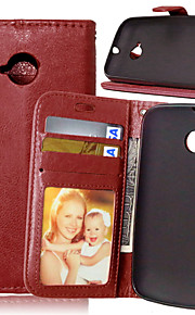 Luxury PU Leather Card Holder Wallet Stand Flip Cover With Photo Frame Case For Moto E 2nd (Assorted Colors)