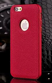 hzbyc®new luksus ekte læretui for metall integrert ramme sak for Apple iPhone 6plus / 6s pluss (assorterte farger)