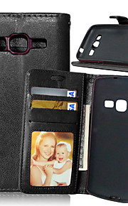 cartes en cuir titulaire portefeuille reposer le couvercle rabattable avec le cas de trame pour samsung galaxy premier noyau / noyau LTE /