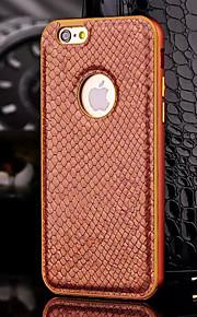 hzbyc®new luksus ekte læretui for metall integrert ramme sak for Apple iPhone 6 / 6s 4.7 (assorterte farger)