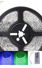 5m 75W 300x5050 SMD LED DC12V IP68 vanntett stripe lys + 44key fjernkontroll rgb + 12v 2a makt AC100-240V