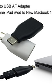 usb-c para adaptador usb3.0 para 6s iphone 6s más 6 5s 5 a marbook sincronización y carga de datos de 12 ''