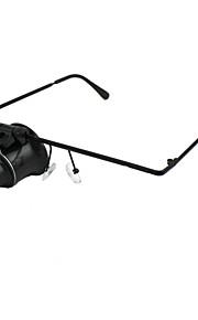 professionelle briller skrive 10x lup med LED lys til ur reparation 2 * CR1620