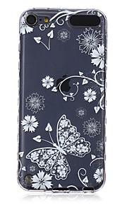 logrotate®anti - 미끄러짐 디자인 나비 패턴은 아이팟 터치 5/6 (모듬 색상) 소프트 케이스 TPU