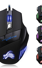 7 knap ledede optisk usb wired 5500 dpi gaming pro spil musen til pro gamer