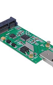 cwxuan® mini-pci-e mSATA para usb 3.0 ssd externa tarjeta adaptadora Conveter pcba sin el caso
