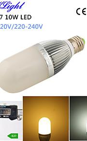 youoklight® 1pcs 10W 900lm 54-2835smd 3000K / 6000K בהירות גבוהה E27&45,000h חיים הארוך הוביל אור ac110-120v / 220-240V