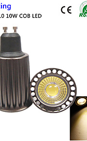 1pcs GU10 10w 3000k 1high makt cob ledet spotlight ac85-265v (høyere kjøleeffekt&høy kvalitet&gjenopprette gamle måter)