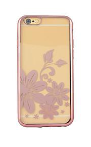 iphone6 / 기가 다시 케이스와 꽃 전기 도금의 TPU