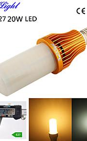 1pcs youoklight® E27 20W 1700lm 260-3528smd 3000K / 6000K בהירות גבוהה&45,000h החיים הארוך הוביל אור ac110-120v / 220-240V