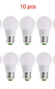 10st kakanuo LED-lampa ljus e26 / e27 3W 15xsmd2835 270lm varmvit / kall vit / naturvit a50 globe lökar ac85-265v