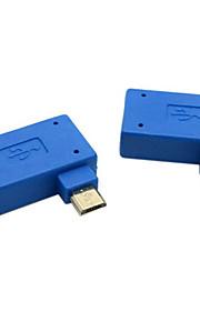 cy® usb 2.0 naar links en rechts bank Micro USB OTG-aansluiting (blauw, 1 set)