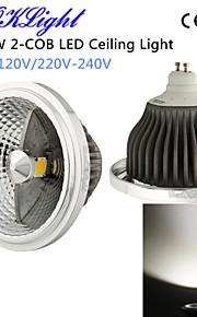 1 st YouOKLight 18 W 2 COB 1500 LM Naturlig vit Dekorativ Infälld glödlampa AC 220-240 / AC 110-130 V
