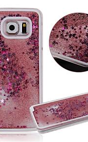 karzea ™ dual 3d strato di plastica che scorre liquido lusso bling stelle glitter caso per Samsung S6 g9200 (colori assortiti)