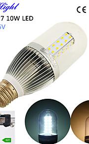 youoklight® 10W 900lm 54-2835smd 3500K / 6500K איכות גבוהה 1pcs E27&נורות מתח DC הנמוך הובילו אור תירס (DC 8 ~ 16V)