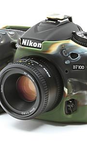 dengpin armadura de borracha de silicone pele caso saco tampa da câmera suave para Nikon D7100 D7200