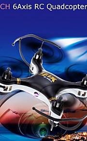 668-A7C 4 canales 6 2.4g eje negro / blanco drones 2.0MP juguetes de control remoto de la cámara hd