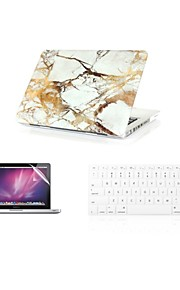 """3 in 1  Fashion  Marble  Cover Case+ Keyboard Cover+ Screen Protector  for Macbook Air 11"""" Retina 13""""/15"""""""