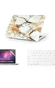 """3 в 1 моде мрамор покрытие кейс + крышка клавиатура + протектор экрана для MacBook Air 11 """"13"""" сетчатки / 15 """""""