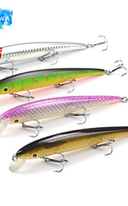 Mizugiwa 1Pcs Fishing Lure Hard Bait Fresh Water Shallow Water Bass Walleye Crappie Minnow float 3 hooks Tackle