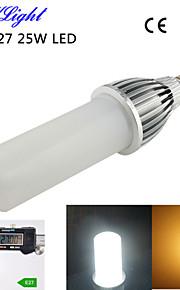 1pcs youoklight® E27 25W 2000lm 114-2835smd 3000K / 6000K בהירות גבוהה&45,000h החיים הארוך הוביל אור ac110-120v / 220-240V