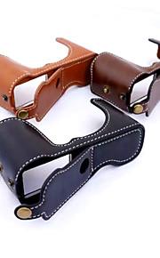Dengpin PU Leather Half Camera Case Bag Cover Base for Fujifilm X-A1 X-A2 X-M1 XA1 XA2 XM1(Assorted Colors)