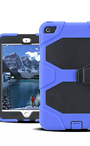 ShockProof Hybrid Slim Armor PC+Silicon Case with Stand and Stylus for iPad Mini 4(Assorted Color)