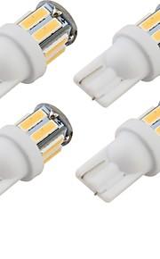 youoklight® 4stk t10 5W 400lm 10-smd7020 6000K hvitt lys førte bilen pære lys (12v)