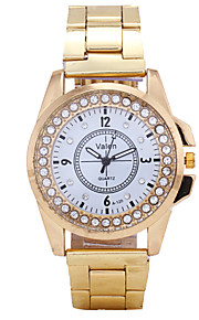 Damen Modeuhr Quartz Legierung Band Armbanduhr Gold / Mehrfarbig