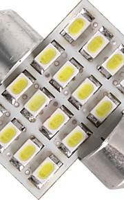 ledet bil innvendig lys 12v hvit 3528smd 16 leds bil dome pære lampe 31mm (2 stk)