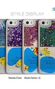 sanlead haitianske fest-ænder serien ~ 1 stk med pulver og væske tilbage tilfældet for iphone6,6s (assorterede farver)