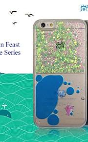 sanlead haitianske fest anime serie pc med farve pulver og væske tilbage tilfældet for iphone6,6s (assorterede farver)