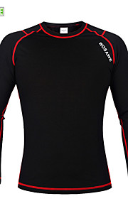 WOSAWE Winter Warm Fleece Base Layer Sports Underwear Riding Cycling Undershirt Long Sleeve Jersey