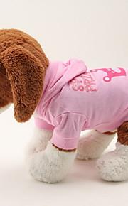 Hunde - Winter - Baumwolle - Wasserdicht / Weihnachten - Rosa - Kapuzenshirts - XS / S / M / L