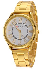 casual or de conception montre-bracelet bande d'alliage de quartz des femmes