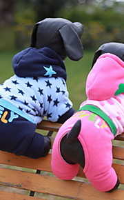 Hunde - Winter - Baumwolle - Wasserdicht / Modisch - Blau / Rosa - Kapuzenshirts - XS / S / M / L