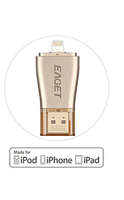 eaget i50 64GB til iPhone OTG usb 3,0 flash-drev ekspansion 100% kapacitet til iPhone / iPad / iPod, mikro pen-drev til pc