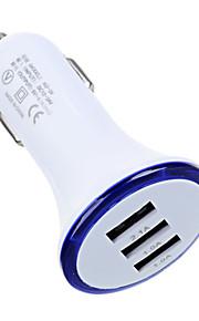cwxuan® caricatore di potere dell'automobile 5v 3 * USB universale per iPhone / Samsung e altri