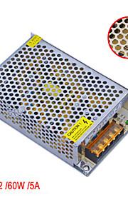 Jiawen ac 110v / 220v til dc 12v 5a 60W transformator bytte strømforsyning
