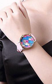 Ms Fashion Leather Stainless Steel Quartz Watch