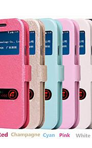 Per Samsung Galaxy S7 Edge Con supporto / Con sportello visore / Con chiusura magnetica Custodia Integrale Custodia Tinta unita Similpelle