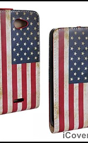 HTC 욕망 (516)에 대한 미국의 플래그 가죽 케이스 커버 지갑 카드 슬롯 케이스