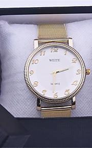 gouden horloge volledig roestvrijstalen vrouw mode jurk horloges nieuwe genève quartz horloge beste kwaliteit
