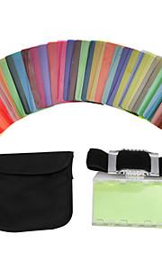 30pcs sidande filtro de cor kit DSLR lâmpada câmera cartão de tonalidade de cor do flash Speedlite universal Nikon Canon Sony pentax