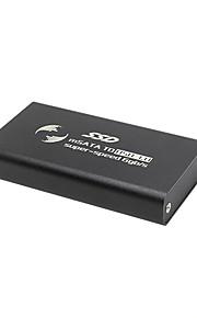 MSATA Solid State Switch USB3.0 Mobile Hard Disk Box MSATA SSD External Hard disk Cartridge Economic Aluminum Version