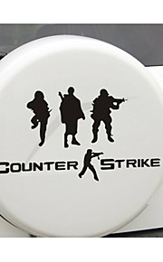 Funny CS military counter-strike Car Sticker Car Window Wall Decal Car Styling (1pcs)